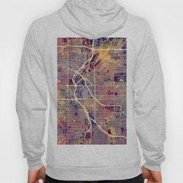 Denver Colorado Street Map Hoody