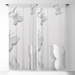 Paper butterfly cutouts Blackout Curtain