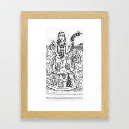 The debutante Framed Art Print