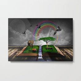 Book about Nature Metal Print