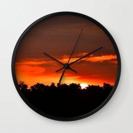 Bloody Sky Wall Clock
