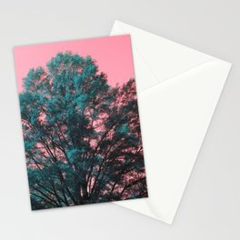 5D Visions : Teal Tree Pink Sky Stationery Cards