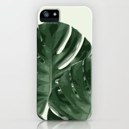 Monstera_Le_1 iPhone Case