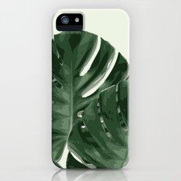 Monstera_Le_1 iPhone Case