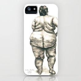 mujer en la ducha iPhone Case