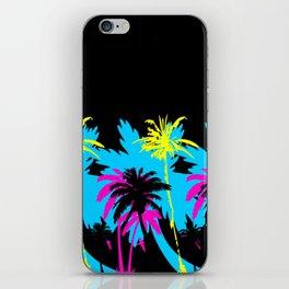 CMYK Palm Trees - Blackdrop iPhone Skin