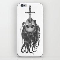sword iPhone & iPod Skins featuring Sword Swallower by savage_amused