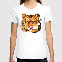 tigers T-shirts featuring 2 Tigers by Chawalit Jitsanorh
