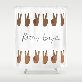 Boy Bye Shower Curtain