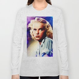 Anne Francis, Vintage Actress Long Sleeve T-shirt