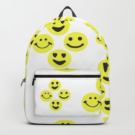 Happy face, smiley face emotions repeated pattern Backpack