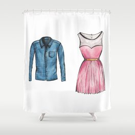 His and Hers Shower Curtain