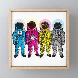 CMYK Spacemen Framed Mini Art Print