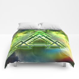 Sacred Geometry - Equilateral Triangle 05 Comforters