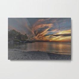 Sunset at the beach 0681 Metal Print