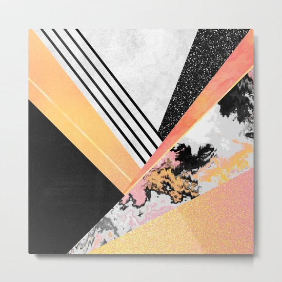 Geometric Summer Metal Print