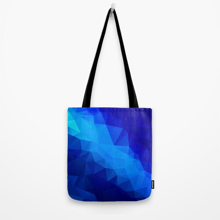 Abstract digital art polygon triangles Tote Bag