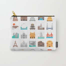CUTE FAMOUS MONUMENTS PATTERN Carry-All Pouch
