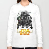 dark side Long Sleeve T-shirts featuring dark side by Vincent Trinidad