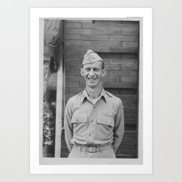 Man in Uniform Art Print
