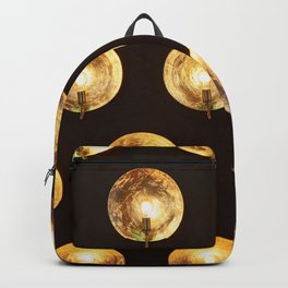 Decorative installation of incandescent lamps Backpack