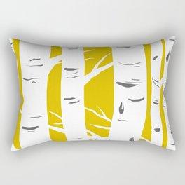 Mustard Birches Rectangular Pillow