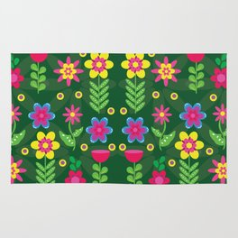 Colorful Flowers Rug