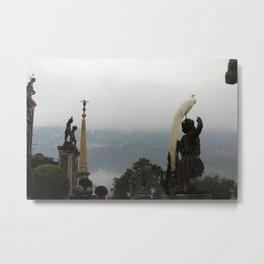 Statue Garden Metal Print
