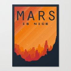 MARS Space Tourism Travel Poster Canvas Print
