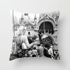Birds of a Feather - St. Marks Square Italy Throw Pillow
