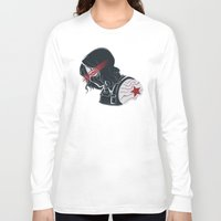 winter soldier Long Sleeve T-shirts featuring Winter Soldier  by Charleighkat