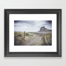 Piha Beach Framed Art Print