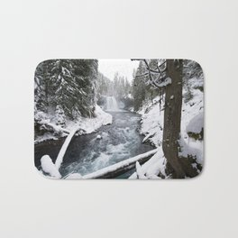 The Wild McKenzie River Waterfall - Nature Photography Bath Mat