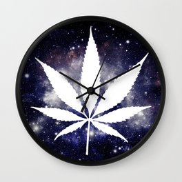 Weed : High Times Navy Blue Galaxy Wall Clock