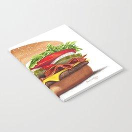 Bacon Cheeseburger by dana alfonso Notebook