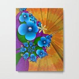 Blushing Blue Metal Print