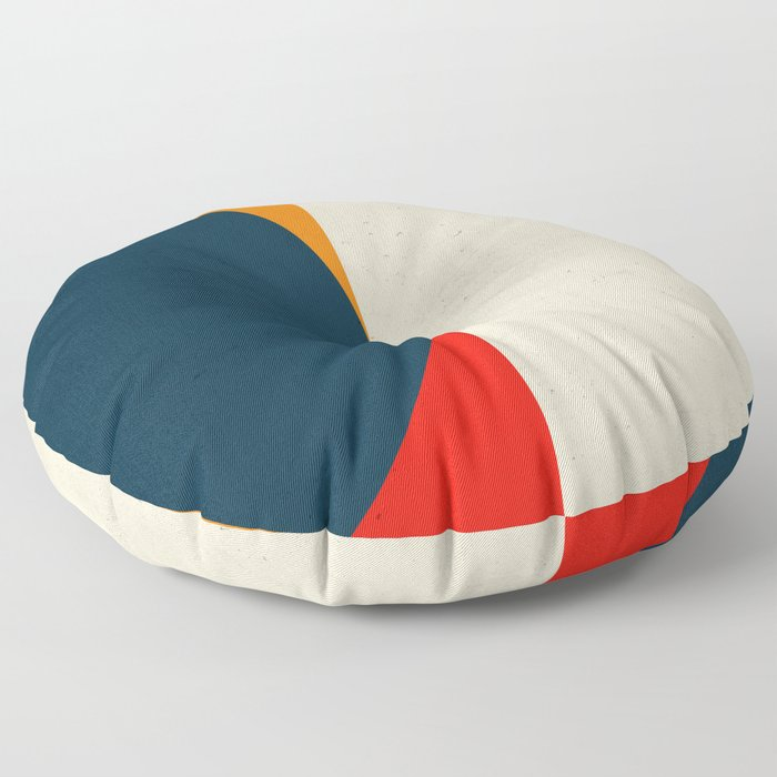 Geometric abstract / half circles Floor Pillow