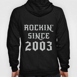 17 Year Old Classic Rock 2003 17th Birthday Gifts Men Women Hoody