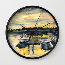 Rocktide Sunset Wall Clock