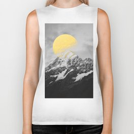 Moon dust mountains Biker Tank