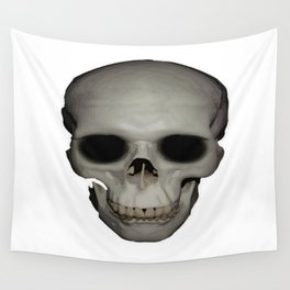 Human Skull Vector Isolated Wall Tapestry