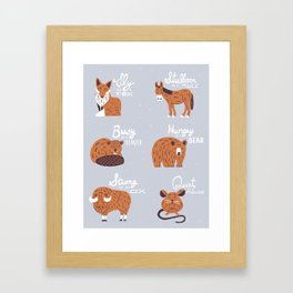 Animal Idioms Framed Art Print