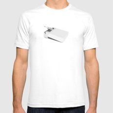 Addiction 1 SMALL White Mens Fitted Tee