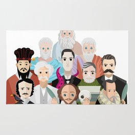 great philosophers and writers from all times Rug
