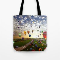 balloon Tote Bags featuring balloon by Sjaefashion