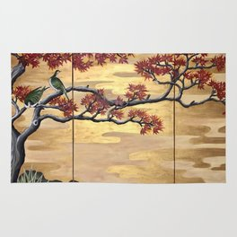 Japanese Fall Leaves Rug