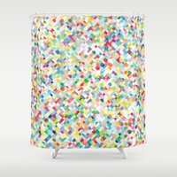darren criss Shower Curtains featuring Criss by Simon C Page
