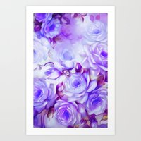 shabby chic Art Prints featuring Shabby Chic Purple by Jacqueline Maldonado