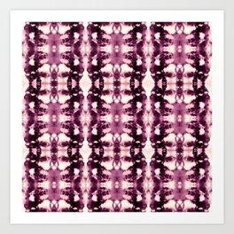 Tie Dye Burgundies Art Print