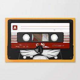 The cassette tape cat Canvas Print